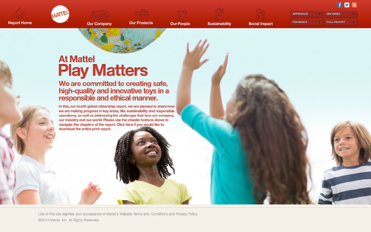 Mattel Website