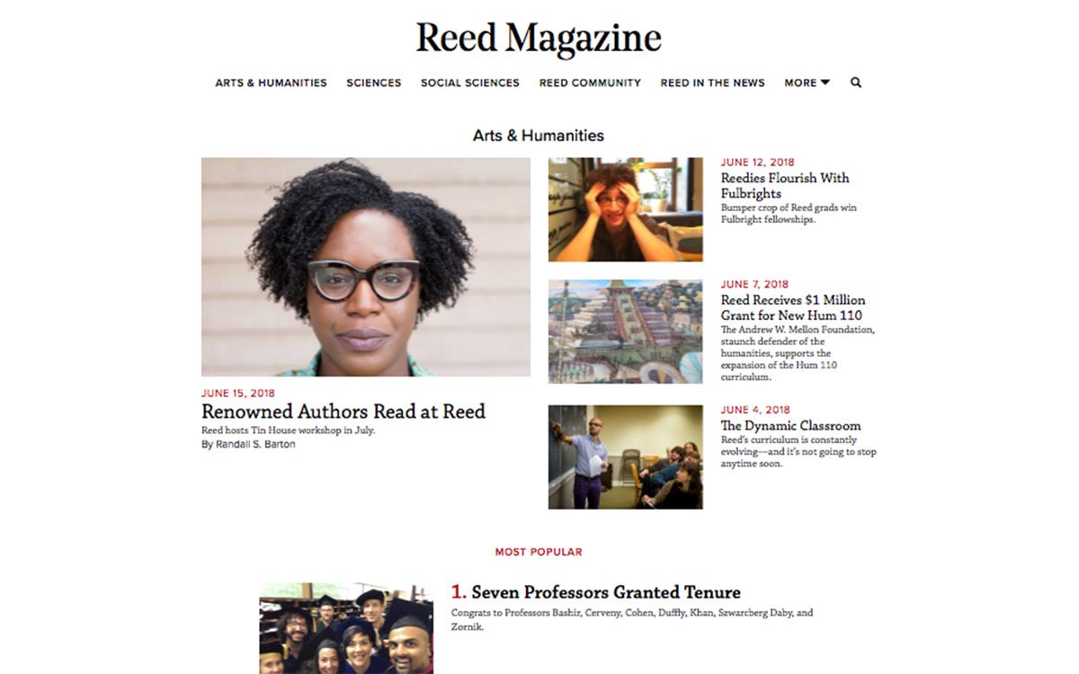 Reed Magazine Webpage
